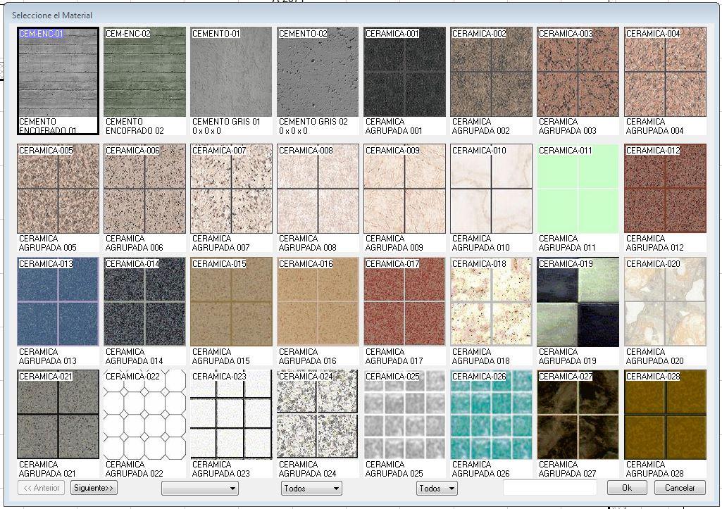 Texturas en piso y muros - Tipos de muros ...